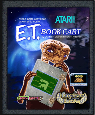 E.T. Book Cart Label Misprint