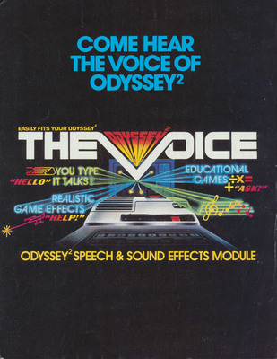 The Voice Odyssey2 Speech & Sound Effects Module Marketing Brochure