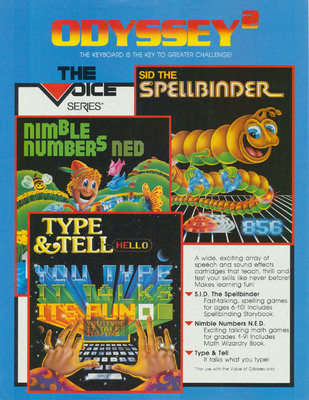 Odyssey2 The Voice Series Sales Flyer