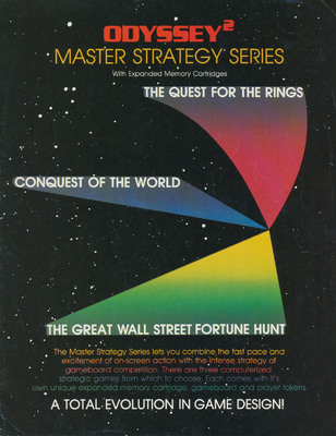 Odyssey2 Master Strategy Series Sales Flyer