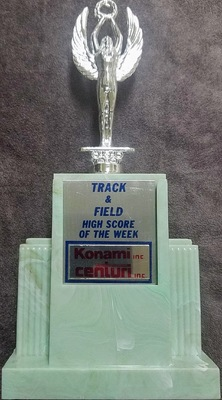 Konami Centuri Track & Field High Score of the Week Trophy
