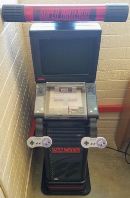 Super Nintendo Entertainment System Store Kiosk